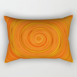 Re-Created Spin Painting (Orange) by Robert S. Lee Rectangular Pillow