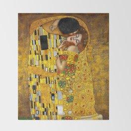 The Kiss Painting Gustav Klimt Throw Blanket