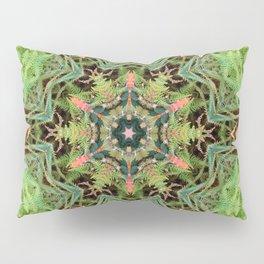 Leaves, Foilage and Fern Mandala Pillow Sham