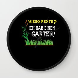 Why Pension Gift Idea For Gardener Wall Clock