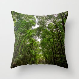Canopies of Mahogany Throw Pillow