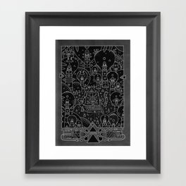 koznoz jungle Framed Art Print
