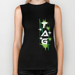 Funny Laser Tag Party T-Shirt Mode On Tag Biker Tank