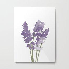 Watercolor Lavender Metal Print