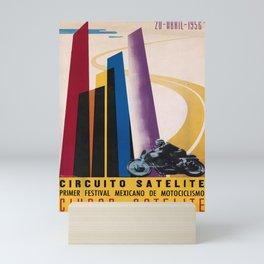 Affiche circuito satelite ciudad satelite. 1958 Mini Art Print