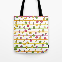 Happy Fruits seamless pattern Tote Bag