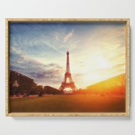 Sunset Eiffel Tower Serving Tray
