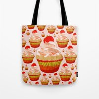 cupcakes Tote Bags featuring Cupcakes by Alexandra Baker