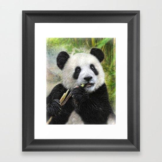 Panda Baby Framed Art Print