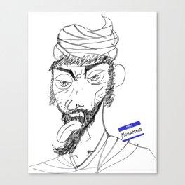Sketchy Prophet Canvas Print