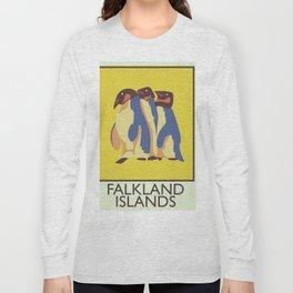 Falkland Islands travel poster Long Sleeve T-shirt