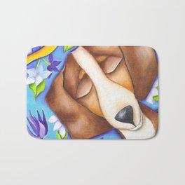 Happy Dreams Dachshund Dog Original Art Bath Mat