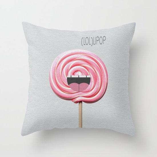 (LOL)LIPOP Throw Pillow