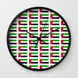 flag of UAE -united arab Emirates,Abu dhabi, dubai,emirati,الإمارات Wall Clock