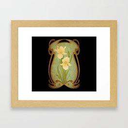 Art Nouveau Flowers Framed Art Print