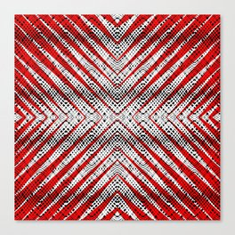 Breeze Red - Optical Series 010 Canvas Print