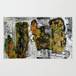 Destination Nowhere - Mixed Media Acrylic Pebeo Abstract Modern Art, 2015 Rug