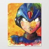 megaman Canvas Prints featuring Megaman by Jhaiku
