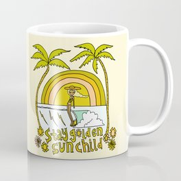 stay golden sun child //retro surf art by surfy birdy Coffee Mug