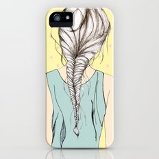 Hair braid iPhone (5, 5s) Slim Case