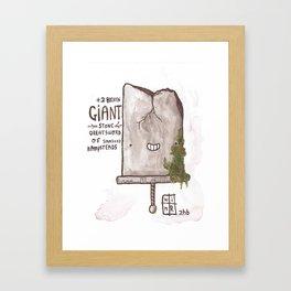 +2 Broken GIANT Stone Greatsword Framed Art Print