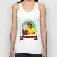 vegan Tank Tops featuring Vegan by Bakal Evgeny