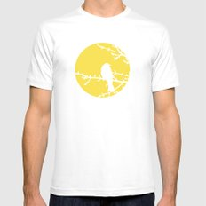 Yellow Bird - Modern White MEDIUM Mens Fitted Tee