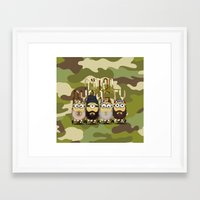 minions Framed Art Prints featuring Minions Mashup Duck Dinasty by Akyanyme