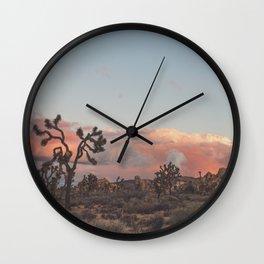 Joshua Tree Sunset No.2 Wall Clock