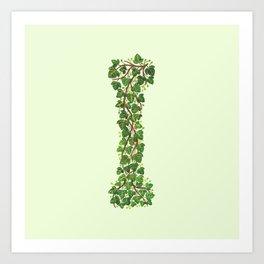 Leafy Letter I Art Print