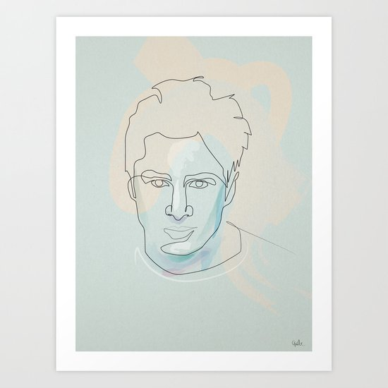 one line Scrubs:« J.D. » Dorian Art Print