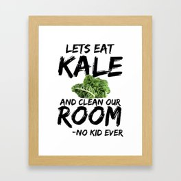 Kale Art for Kids, Vegans and Vegetarians on Diet Light Framed Art Print