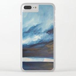 Rain at Sea Clear iPhone Case