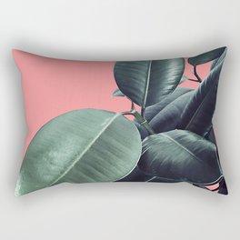 Ficus Elastica Summer Vibes #1 #coral #foliage #decor #art #society6 Rectangular Pillow