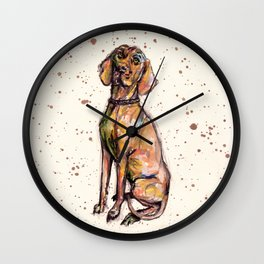 Hungarian Vizsla Dog Wall Clock