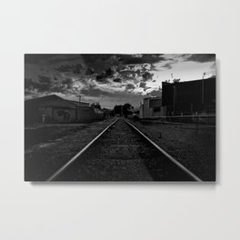 Dark Railway Metal Print