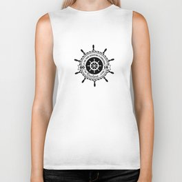 Nautical - If you think adventure is dangerous, try routine it's lethal Biker Tank