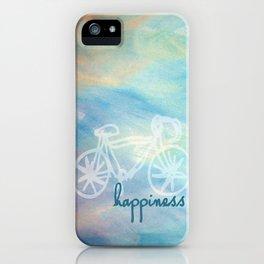 a happy bike ride. iPhone Case