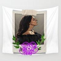lana Wall Tapestries featuring lana del ray by starudijia