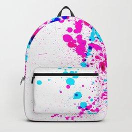 Energetic Expressive Hot Pink Paint Splatter Backpack