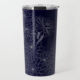 Succulent - Navy Travel Mug