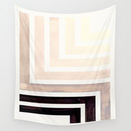 Grey Mid Century Modern Watercolor Colorful Ancient Aztec Art Pattern Minimalist Geometric Pattern Wall Tapestry