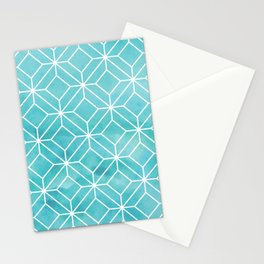 Geometric Crystals: Sea Glass Stationery Cards