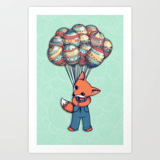 A Bunch of Balloons for my Baby Art Print