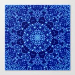 Ocean of Light Mandala Canvas Print