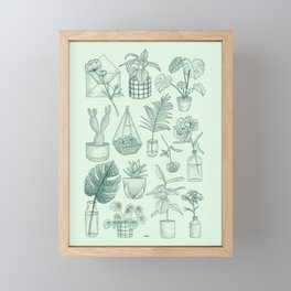 PLANTS LOVER Framed Mini Art Print