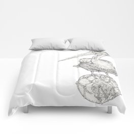 Holding on - The Dalmatian Pelican Comforters