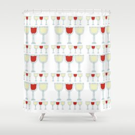 Wine Glass Pattern Shower Curtain
