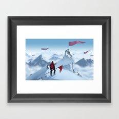 Too Late Framed Art Print