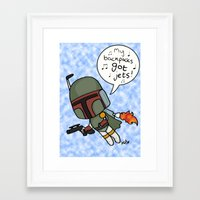 boba Framed Art Prints featuring boba by kaylieghkartoons